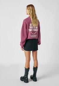 PULL&BEAR - Mini skirt - mottled dark grey - 2