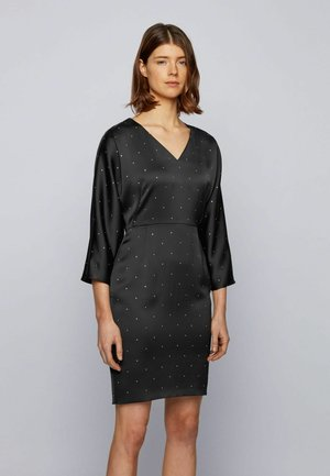 DEROVSKA - Shift dress - black
