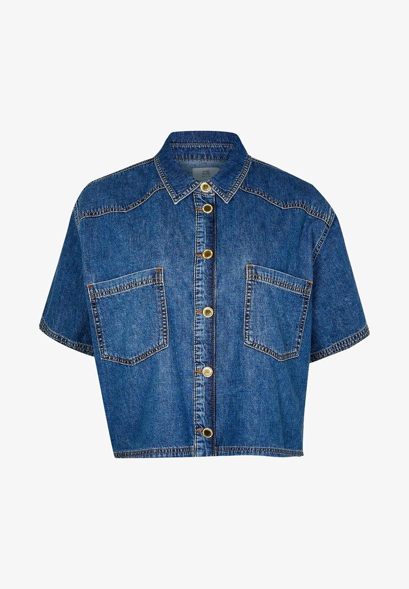 River Island Petite - Denim jacket - blue