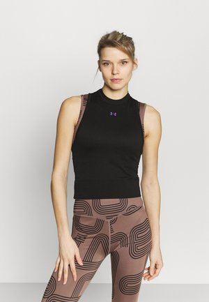 RUSH SEAMLESS CROP - Toppi - black