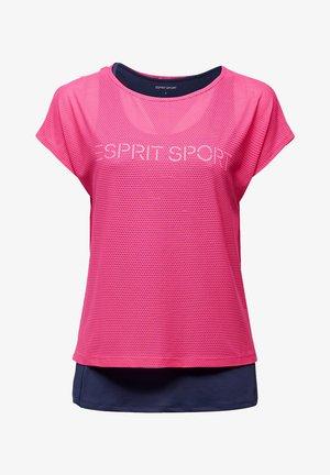 Print T-shirt - pink fuchsia