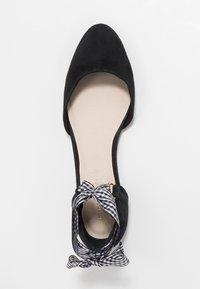 mint&berry - Ankle strap ballet pumps - black - 3