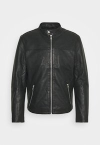 Only & Sons - ONSDEAN JACKET - Leather jacket - black - 4