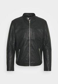 ONSDEAN JACKET - Leather jacket - black