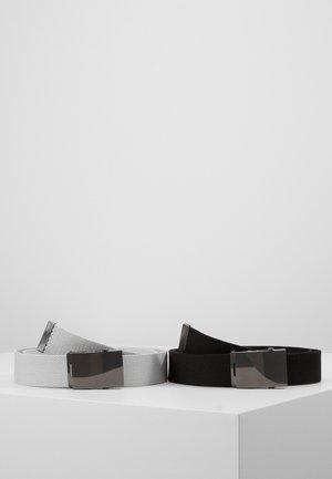 UNISEX 2 PACK - Pásek - black/light grey