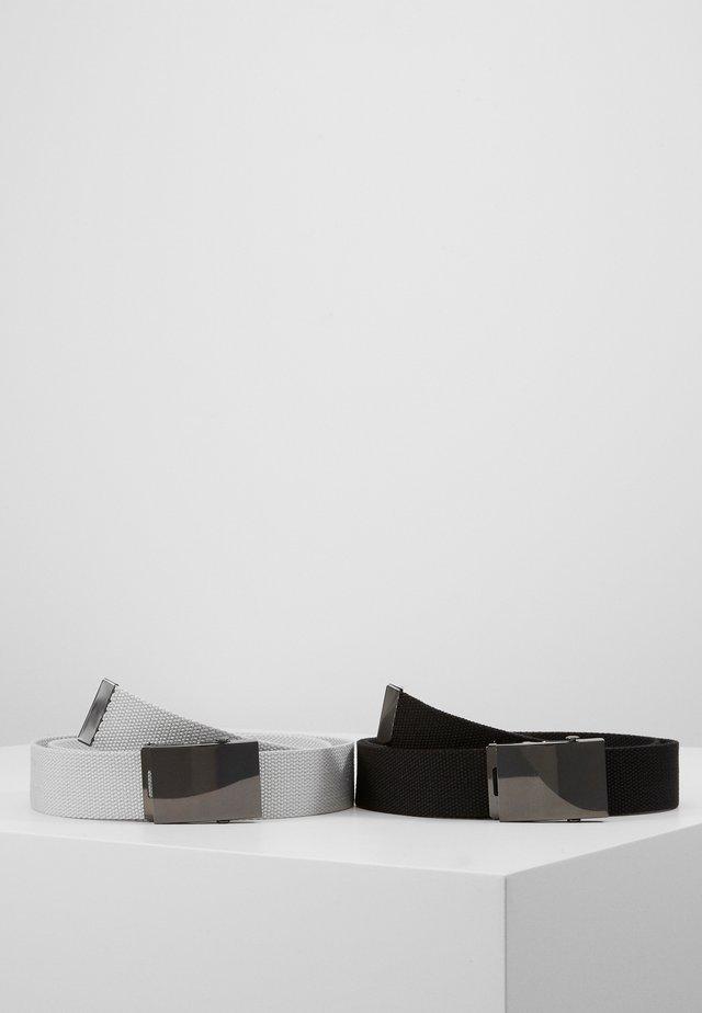 UNISEX 2 PACK - Belte - black/light grey
