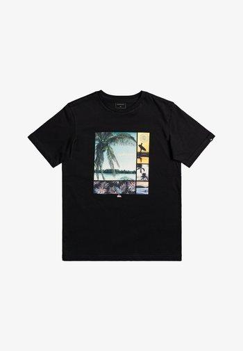 HIDDEN COVE - Print T-shirt - black