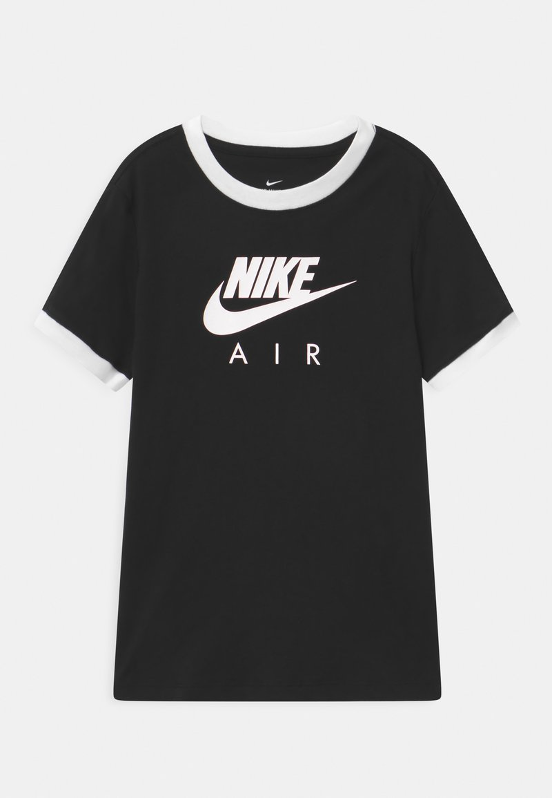Nike Sportswear - RINGER TEE - Camiseta estampada - black/white