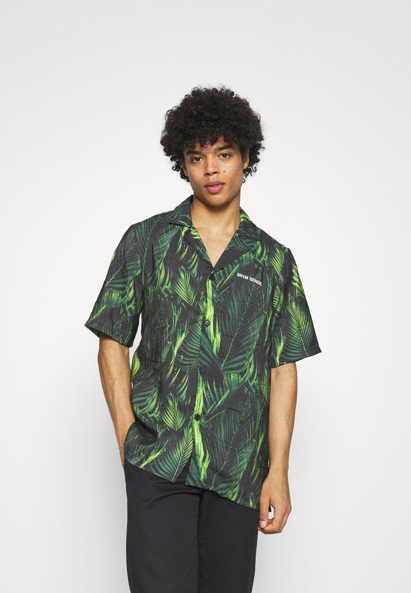 9N1M SENSE - SPECIAL PIECES UNISEX - Shirt - black/green