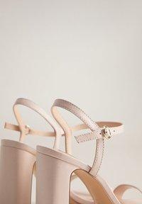 Mango - AIR - High heeled sandals - nude - 5
