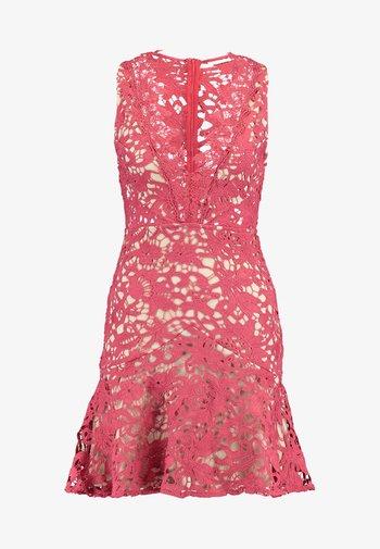 DANUBE MINI DRESS - Vestido de cóctel - brick red