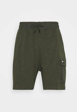 Shorts - khaki/black oxidized