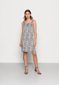 Calvin Klein Jeans - WIDE STRAPS DRESS - Cocktail dress / Party dress - beige - 0