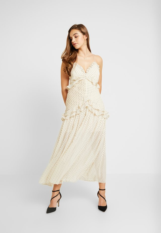 ZETTA DRESS - Galajurk - creme/black
