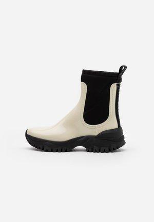 CHERYL - Platform ankle boots - cotton