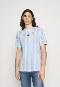 Tommy Jeans - STRIPE TEE - T-shirt imprimé - light powdery blue - 0