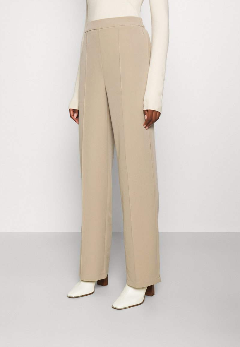 PIECES Tall - PCBOSSY PANTS - Trousers - silver mink