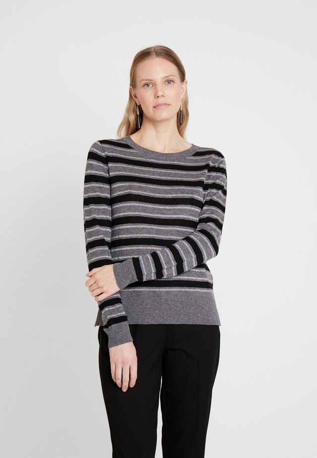 MAQUINZA STRIPES - Sweter - grey