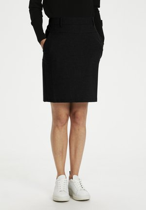 A-line skirt - black deep