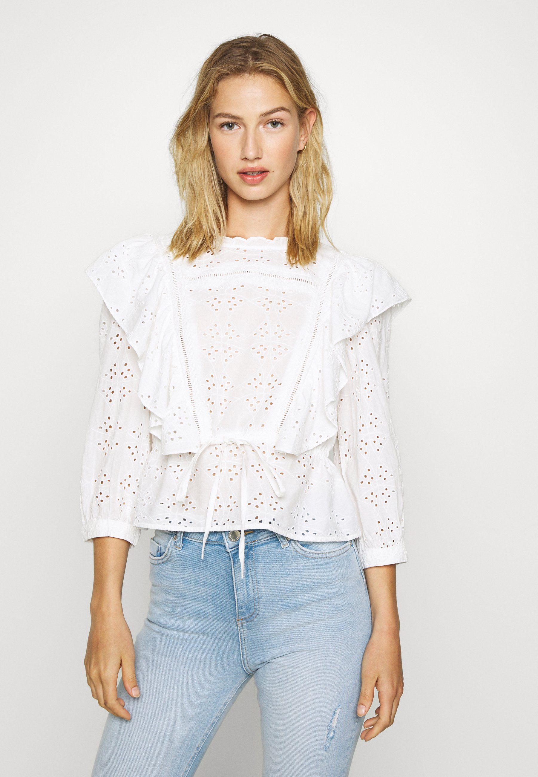 Gina Tricot SIV BLOUSE - Bluser - offwhite