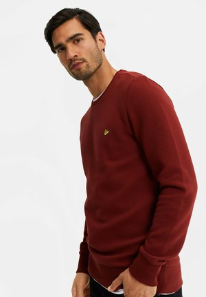 Zip-up hoodie - burgundy red