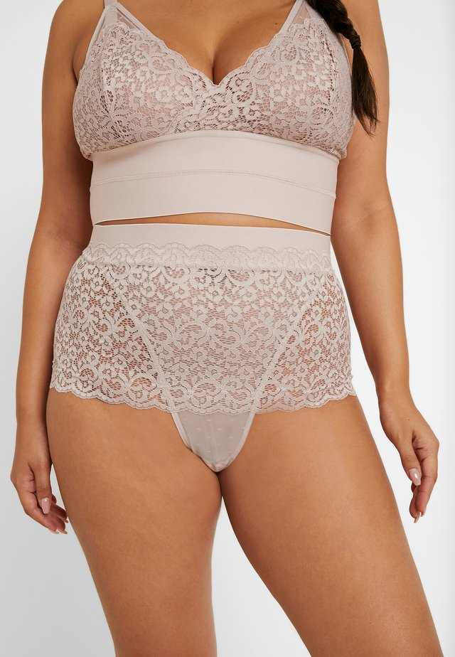 ELIZA HIGH WAIST BRIEF - Slip - shadow grey