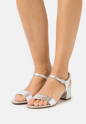LEATHER - Sandales - silver