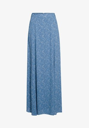 Maxi skirt - aop - leaf sea blue