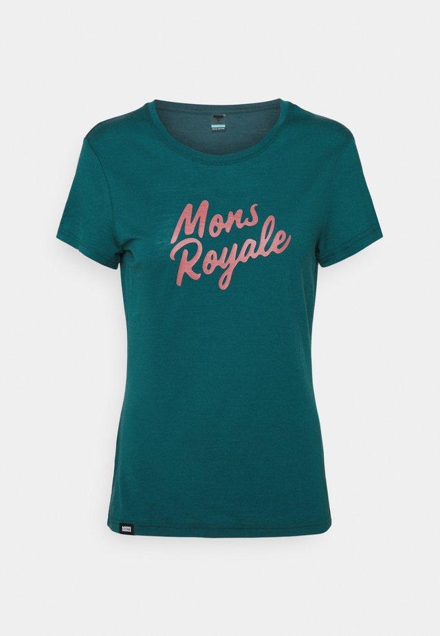 ICON TEE - T-shirt med print - deep teal