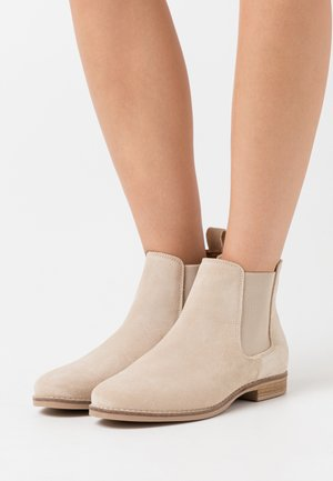 LEATHER - Ankle boots - beige