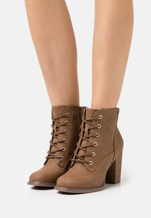 BIMNI - Lace-up ankle boots - cognac
