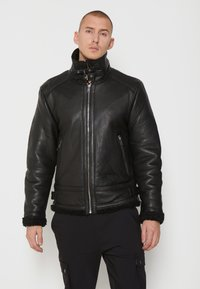 Be Edgy - AUSTIN - Leather jacket - black - 0