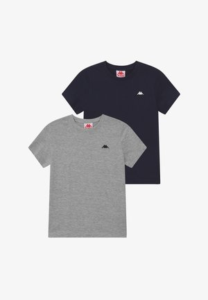 2 PACK - Basic T-shirt - high-rise melange/total eclipse