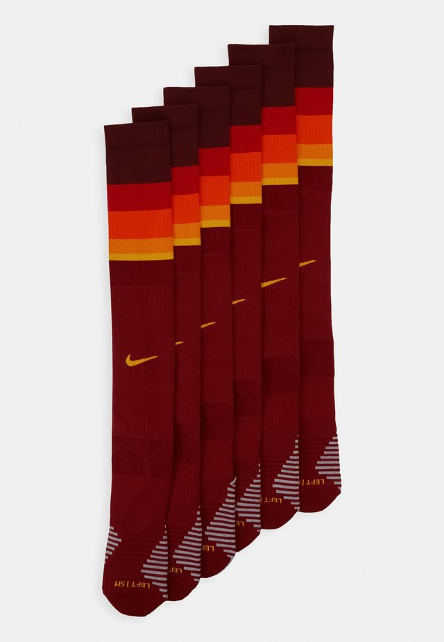 ROMA U STAD OTC SOCK HM 6 PACK - Knee high socks - team crimson/university gold