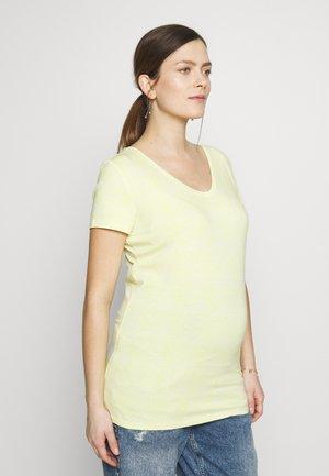 TEE V NECK ROME - Print T-shirt - endive