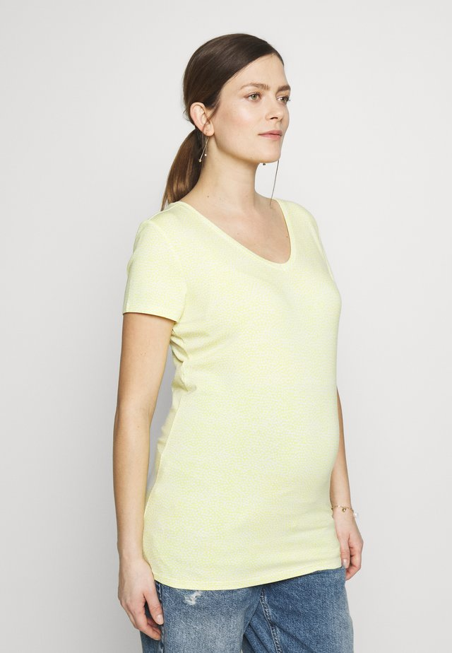 TEE V NECK ROME - T-shirt con stampa - endive