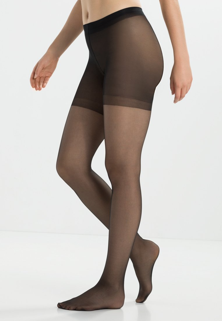 FALKE - FALKE SHAPING PANTY 20 DENIER STRUMPFHOSE TRANSPARENT GLÄNZEND SCHWARZ - Tights - black
