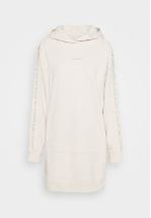 LOGO TRIM HOODIE DRESS - Day dress - white sand