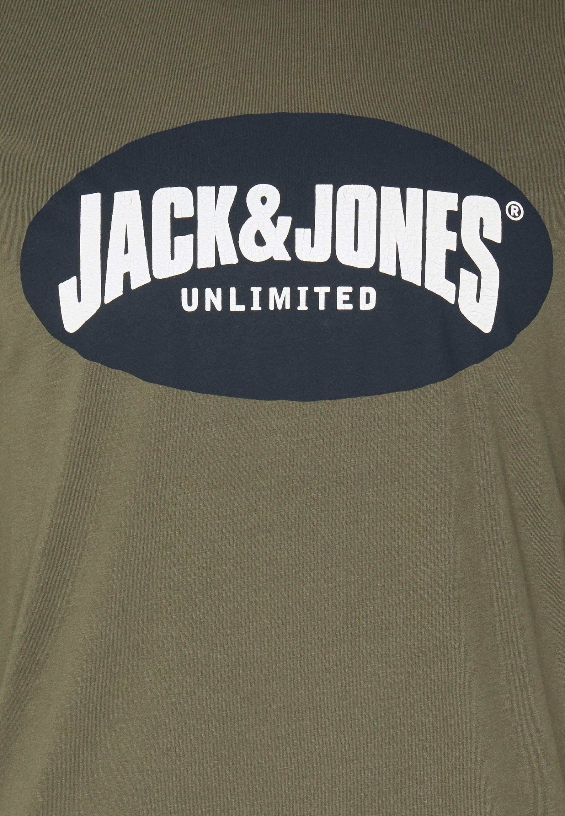 Jack & Jones JOR30HISTORY CREW NECK - Long sleeved top - dusty olive/navy 20ey9