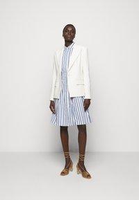 Steffen Schraut - SUMMER DRESS - Shirt dress - white/blue - 1