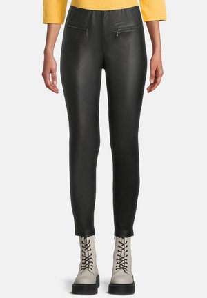Leather trousers - zwart