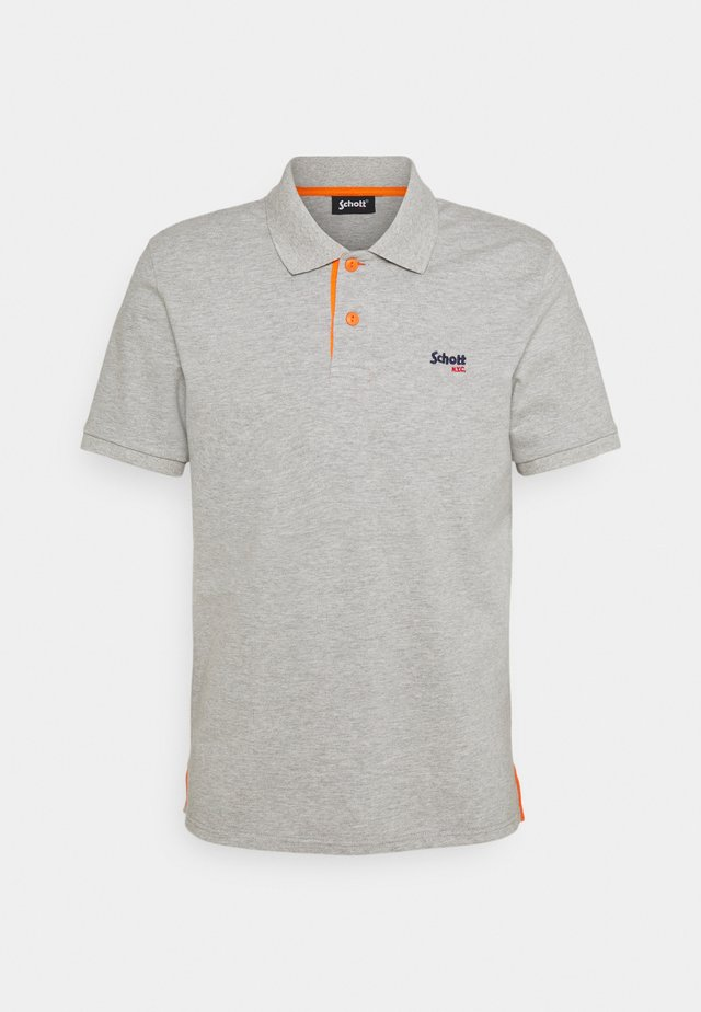 PSMILTON - Polo shirt - grey/ orange