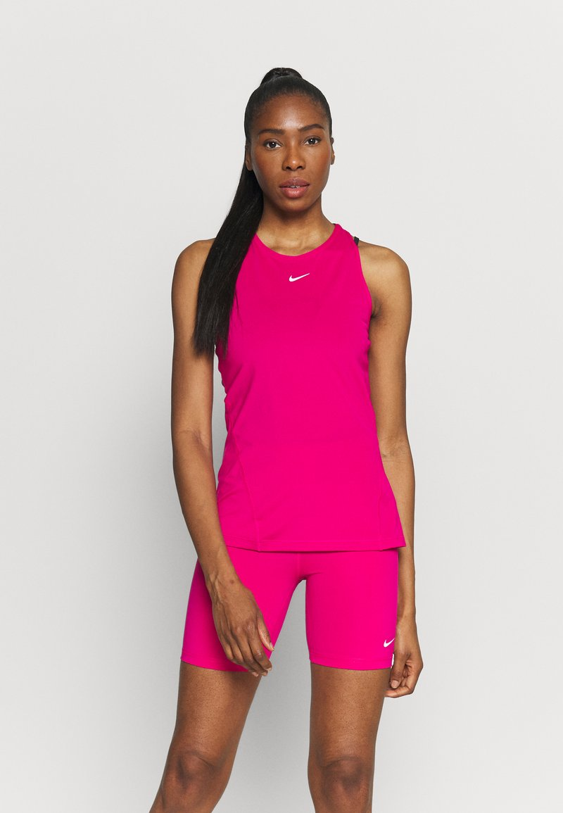 Nike Performance - TANK ALL OVER  - T-shirt sportiva - fireberry/white