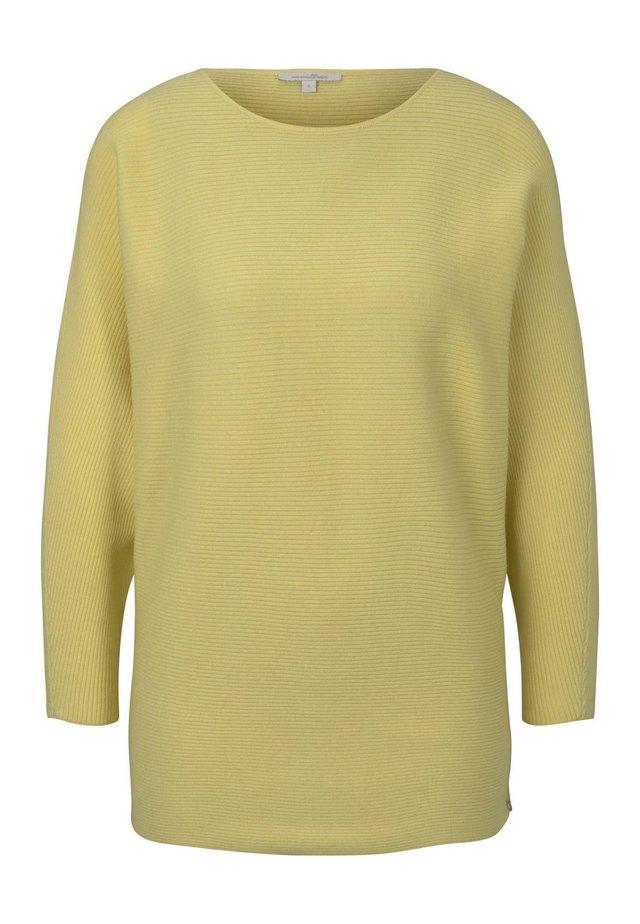 PULLOVER STRICKJACKEN LOCKERER STRICKPULLOVER - Sweter - pale yellow