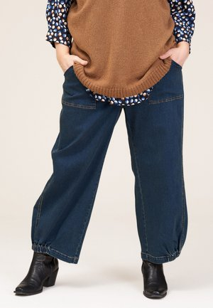 CLARA BAGGY PANTS - Relaxed fit jeans - dark blue denim