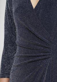 Lauren Ralph Lauren - MINI METALLIC EVENING GOWN - Vestido de fiesta - light navy/grey silver - 6