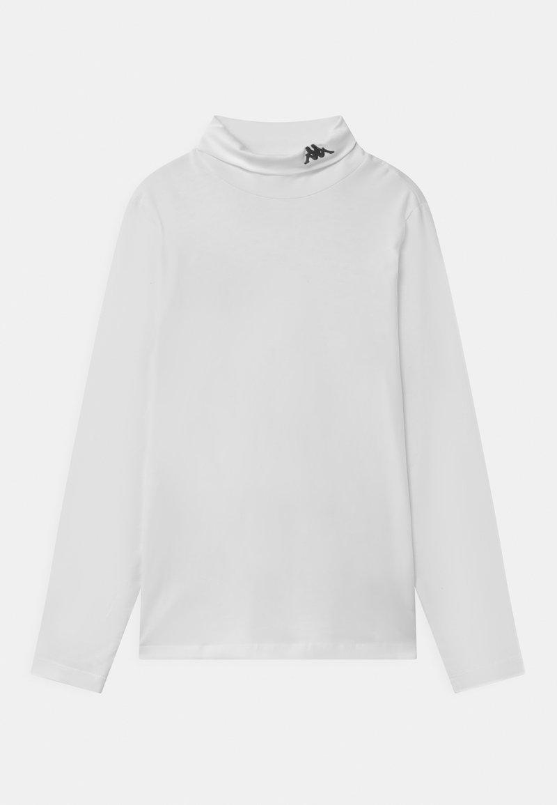 Kappa - HAIO UNISEX - Long sleeved top - bright white