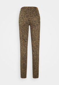 Cream - LOTTECR PRINTED PANTS  COCO FIT - Trousers - khaki tiger - 1