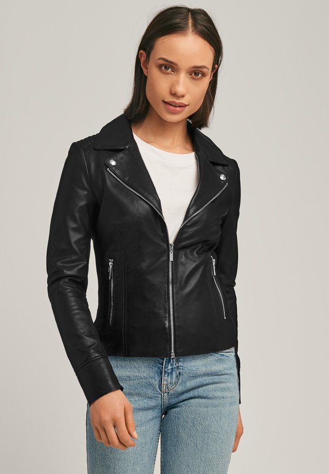KENDALL  - Leren jas - black