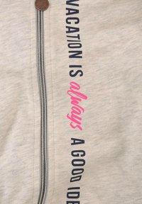 TOM TAILOR - Zip-up hoodie - kids offwhite melange - 2